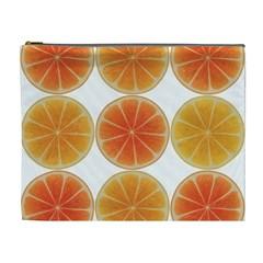 Orange Discs Orange Slices Fruit Cosmetic Bag (XL)