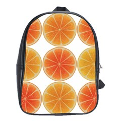 Orange Discs Orange Slices Fruit School Bags(Large)