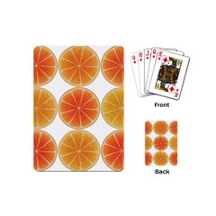 Orange Discs Orange Slices Fruit Playing Cards (Mini)