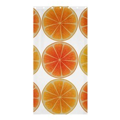 Orange Discs Orange Slices Fruit Shower Curtain 36  X 72  (stall)
