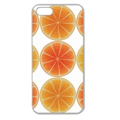 Orange Discs Orange Slices Fruit Apple Seamless iPhone 5 Case (Clear)