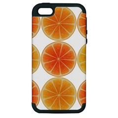 Orange Discs Orange Slices Fruit Apple iPhone 5 Hardshell Case (PC+Silicone)