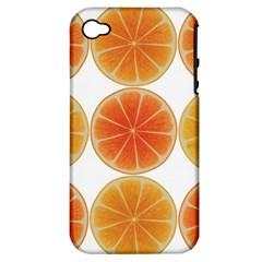 Orange Discs Orange Slices Fruit Apple Iphone 4/4s Hardshell Case (pc+silicone)