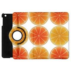 Orange Discs Orange Slices Fruit Apple Ipad Mini Flip 360 Case