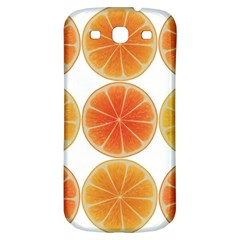 Orange Discs Orange Slices Fruit Samsung Galaxy S3 S Iii Classic Hardshell Back Case