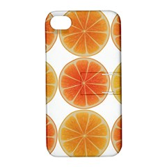 Orange Discs Orange Slices Fruit Apple Iphone 4/4s Hardshell Case With Stand