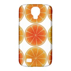 Orange Discs Orange Slices Fruit Samsung Galaxy S4 Classic Hardshell Case (PC+Silicone)