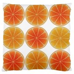 Orange Discs Orange Slices Fruit Standard Flano Cushion Case (one Side)