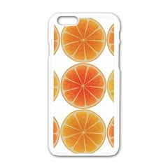 Orange Discs Orange Slices Fruit Apple iPhone 6/6S White Enamel Case