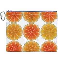 Orange Discs Orange Slices Fruit Canvas Cosmetic Bag (XXXL)