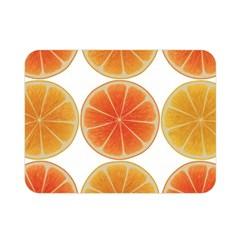 Orange Discs Orange Slices Fruit Double Sided Flano Blanket (Mini)