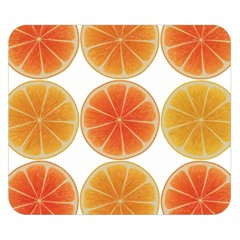 Orange Discs Orange Slices Fruit Double Sided Flano Blanket (Small)
