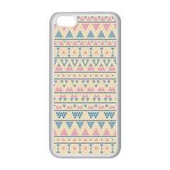 blue and pink tribal pattern Apple iPhone 5C Seamless Case (White)