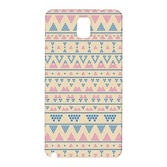blue and pink tribal pattern Samsung Galaxy Note 3 N9005 Hardshell Back Case