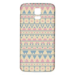 blue and pink tribal pattern Samsung Galaxy S5 Back Case (White)