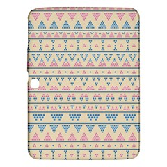 blue and pink tribal pattern Samsung Galaxy Tab 3 (10.1 ) P5200 Hardshell Case