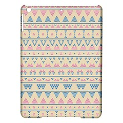 blue and pink tribal pattern iPad Air Hardshell Cases