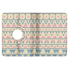 blue and pink tribal pattern Kindle Fire HDX Flip 360 Case