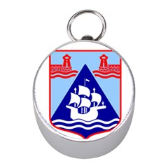 Haifa Coat of Arms  Mini Silver Compasses