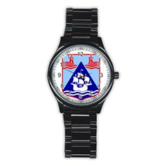 Haifa Coat of Arms  Stainless Steel Round Watch