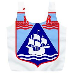 Haifa Coat of Arms  Full Print Recycle Bags (L)