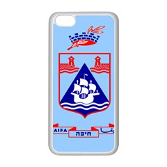 Flag of Haifa Apple iPhone 5C Seamless Case (White)