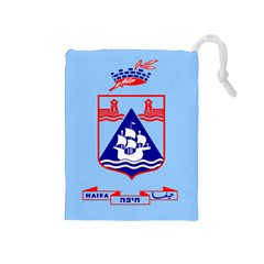 Flag of Haifa Drawstring Pouches (Medium)