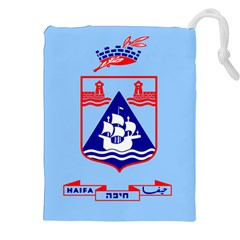 Flag Of Haifa Drawstring Pouches (xxl)