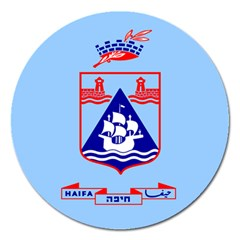 Flag of Haifa Magnet 5  (Round)