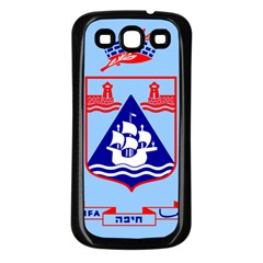 Flag of Haifa Samsung Galaxy S3 Back Case (Black)