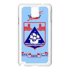 Flag of Haifa Samsung Galaxy Note 3 N9005 Case (White)