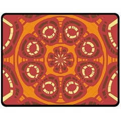 Dark Red Abstract Double Sided Fleece Blanket (Medium)