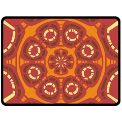 Dark Red Abstract Double Sided Fleece Blanket (Large)