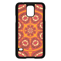 Dark Red Abstract Samsung Galaxy S5 Case (Black)