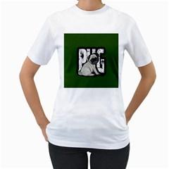 Pug Women s T-Shirt (White)