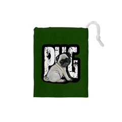 Pug Drawstring Pouches (Small)