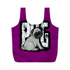 Pug Full Print Recycle Bags (M)