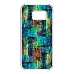 Abstract Square Wall Samsung Galaxy S7 White Seamless Case