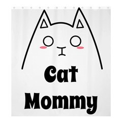 Love My Cat Mommy Shower Curtain 66  X 72  (large)