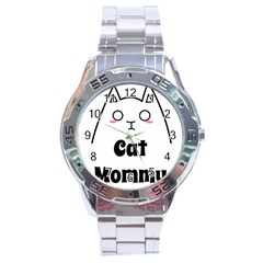 Love My Cat Mommy Stainless Steel Analogue Watch