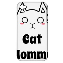 Love My Cat Mommy Apple iPhone 4/4S Hardshell Case (PC+Silicone)