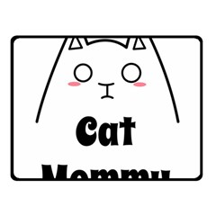 Love My Cat Mommy Double Sided Fleece Blanket (Small)
