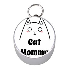 Love My Cat Mommy Mini Silver Compasses