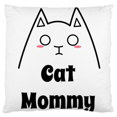 Love My Cat Mommy Large Flano Cushion Case (One Side)