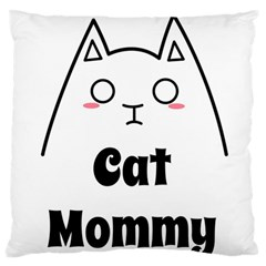 Love My Cat Mommy Large Flano Cushion Case (Two Sides)