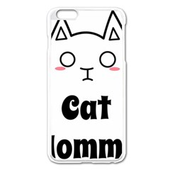 Love My Cat Mommy Apple iPhone 6 Plus/6S Plus Enamel White Case