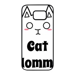 Love My Cat Mommy Samsung Galaxy S7 Edge Black Seamless Case