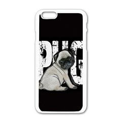 Pug Apple iPhone 6/6S White Enamel Case
