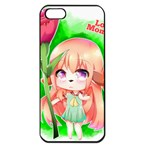 Happy Mother s Day Furry Girl Apple iPhone 5 Seamless Case (Black) Front