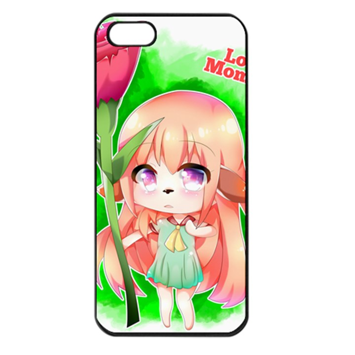 Happy Mother s Day Furry Girl Apple iPhone 5 Seamless Case (Black)